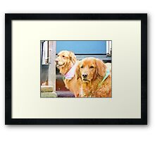 Bear and Olivia Framed Print