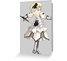 fate zero stay night saber excalibur anime manga shirt Greeting Card