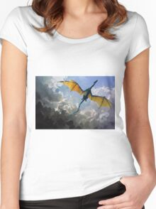 Dragon Sky Women's Fitted Scoop T-Shirt