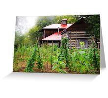 Backyard Garden Greeting Card