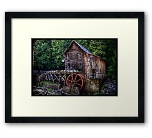 Glade Creek Grist Mill Framed Print