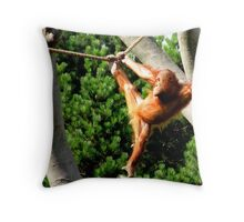 Pensive Orang-utan Throw Pillow
