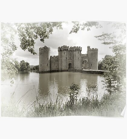 Bodiam Castle, East Sussex, England Poster