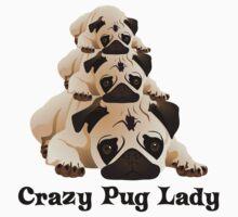 Crazy Pug Lady 2 Kids Clothes