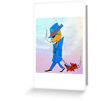 Just walking the dawg Greeting Card