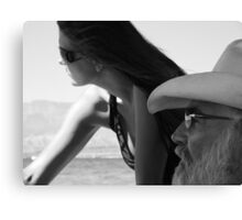 Father & Daughter Canvas Print