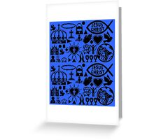 CHRISTIANITY (BLUE) Greeting Card
