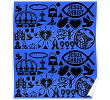 CHRISTIANITY (BLUE) Poster