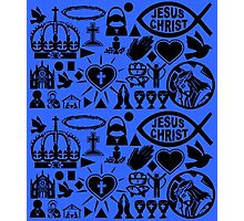 CHRISTIANITY (BLUE) Photographic Print