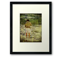 Searching in the Surf Framed Print