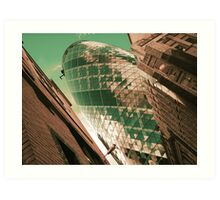 """Green Gherkin"" Art Print"
