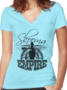 Skooma Empire - Not even once! Women's Fitted V-Neck T-Shirt