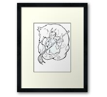 wind goddess Framed Print