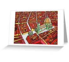 the cathedral in florence, italy Greeting Card