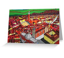 piazza del campo and il duomo, siena, tucany, italy Greeting Card