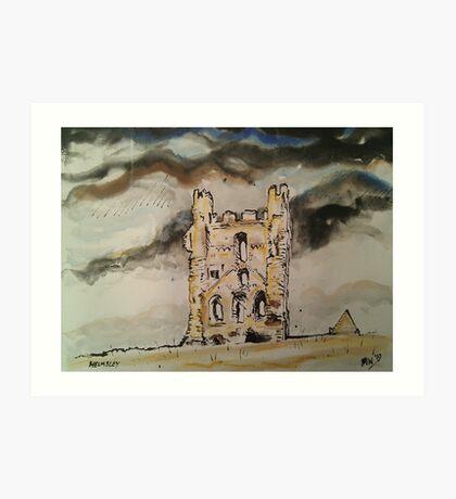 'Helmsley Castle, East Tower' Art Print
