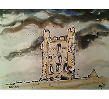 'Helmsley Castle, East Tower' Photographic Print