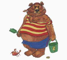 Silly Beach Bear One Piece - Short Sleeve