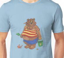 Silly Beach Bear Unisex T-Shirt