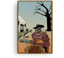 Old West Mushface Canvas Print