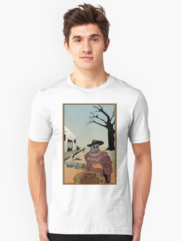 Old West Mushface T-Shirt by MushfaceComics