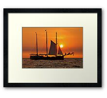 Sail into the sunset II... Framed Print