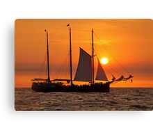 Sail into the sunset II... Canvas Print