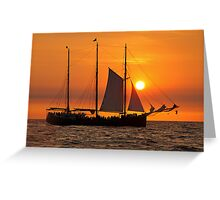 Sail into the sunset II... Greeting Card