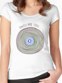 Vinyls are Cool (Pastel) Women's Fitted Scoop T-Shirt