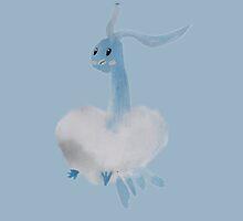Pokemon Watercolor Altaria Dragon! by cormorantfeathe