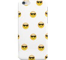 Sunglasses emoji pattern iPhone Case/Skin