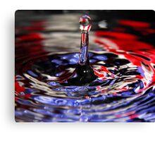 Patriotic Water Drop Canvas Print