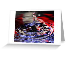 Patriotic Water Drop Greeting Card
