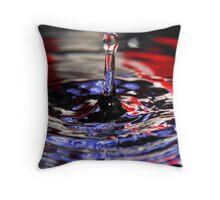 Patriotic Water Drop Throw Pillow