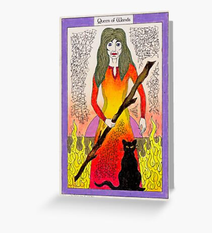 Queen of Wands Greeting Card
