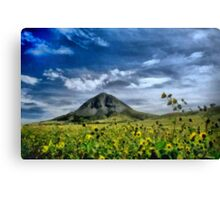 Mountain meets the sky Canvas Print