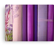purple reading Canvas Print