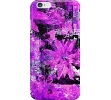 Flower in Black Square 9 - Digitally Altered Print by Heather Holland  iPhone Case/Skin