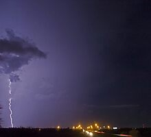 Interstate lightning by Larry  Grayam