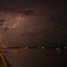 Jensen Beach lightning by Larry  Grayam