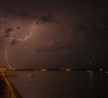 Jensen Beach lightning by Larry  Grayam