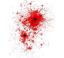 Blood spatter / bullet wound - Costume  Photographic Print