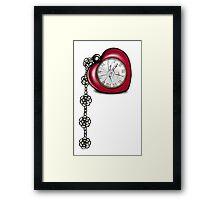 Broken Heart Clock Framed Print