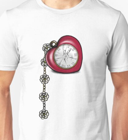 Broken Heart Clock Unisex T-Shirt