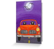 Volvo Under the Full Moon Greeting Card