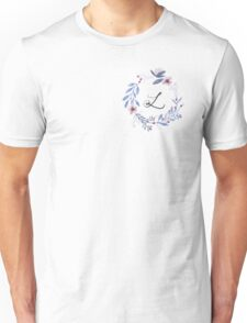 Flowers and the Letter L Unisex T-Shirt