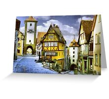 Quaint Little Town Greeting Card
