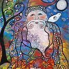 Old St. Nick-Acrylic by Juli Cady Ryan