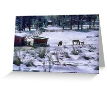 Ranch in winter Greeting Card