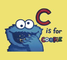 C is for Cookie Monster Baby Tee